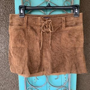 100% leather Abercrombie Fitch skirt brown suede